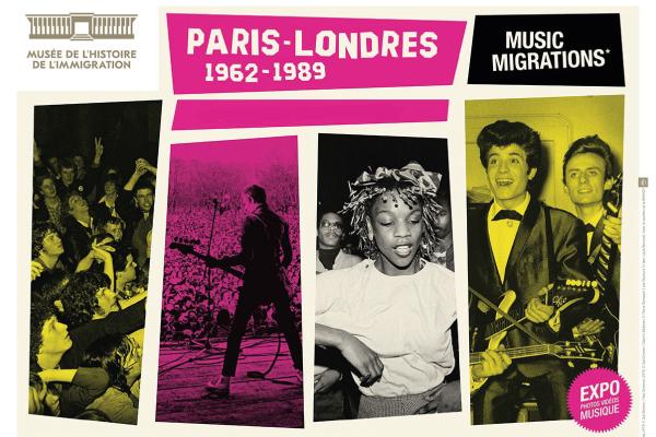"""Exposition """"Paris - Londres : Music Migrations"""