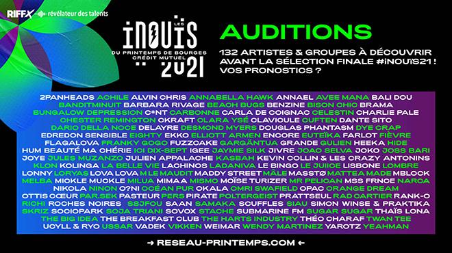132 artistes à découvrir avant la sélection finale !